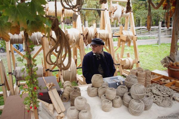 aliciasivert, alicia sivertsson, skansen, skansens höstmarknad, market, autumn, snöre, tamp, rep, rope