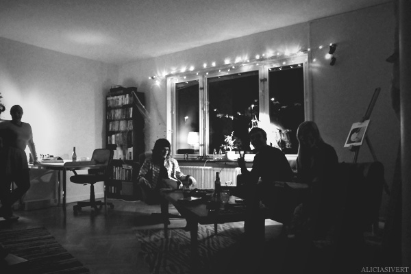 aliciasivert, alicia sivertsson, harry potter halloween party, fest, black and white, svartvitt