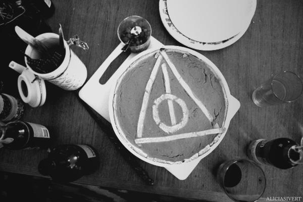 aliciasivert, alicia sivertsson, harry potter halloween party, fest, deathly hallows pie, dödsrelikerna, paj, pumpapaj