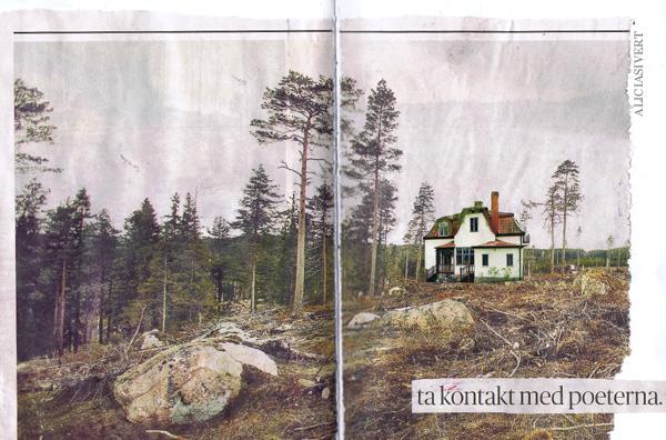aliciasivert, alicia sivertsson, collage, house, ta kontakt med poeterna, poets, hus, byggnad, building
