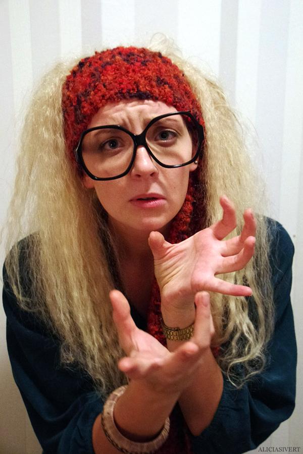 aliciasivert, alicia sivertsson, harry potter halloween party, fest, costume, maskerad, utklädd, utklädnad, hogwarts, professor trelawney