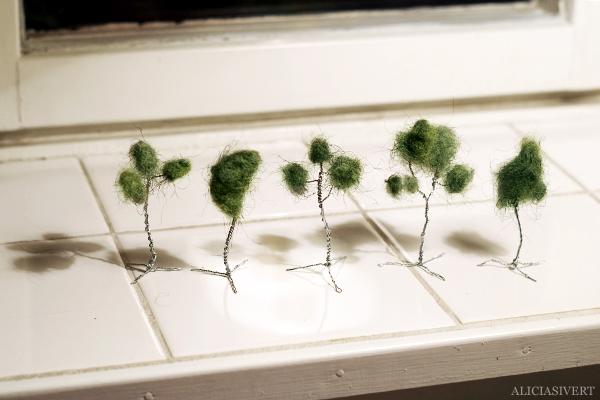 aliciasivert, alicia sivertsson, alicia sivert, tutorial, diy, do it yourself, träd, miniatyrträd, miniatyrlandskap, miniatyrvärld, tree, miniature, ståltråd, ull, wool, wire