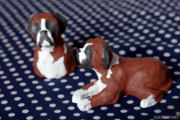 aliciasivert, alicia sivertsson, alicia sivert, boxer, dog, hund, Farina, lera, clay, sculpture, skulptur