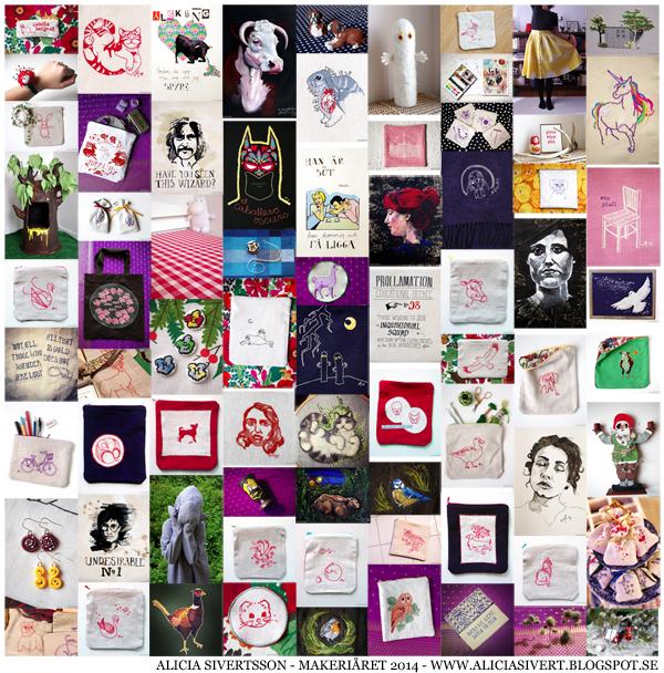 aliciasivert, alicia sivert, alicia sivertsson, makeriåret 2014, alster, makeri, skapa, hantverk, handarbete, konst, måleri, textil, sy, sömnad, måla, teckna, rita, broderi, bordera, tova, nåltovning, filtning, tovning, collage, craft, handicraft, art, embroidery, needlework, needlefelt, needlefelting, cross stitch, diy