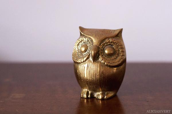 aliciasivert, alicia sivertsson, alicia sivert, home, interiour, interiör, hem, inredning, harry potter, hogwarts, brass owl, mässingsuggla, mässing, uggla,