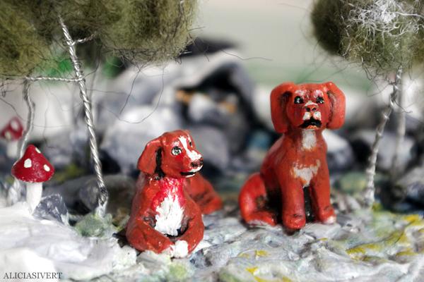 aliciasivert, alicia sivertsson, alicia sivert, lera, clay, sculpture, skulptur, lufttorkande lera, jovi, hundar, tollare, dogs, nova scotia duck tolling retriever