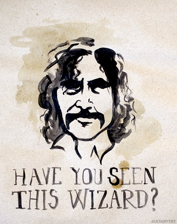 aliciasivert, alicia sivert, alicia sivertsson, harry potter, poster, affisch, halloween, party, painted, painting, acrylics, akrylfärg, måla, målad, målat, måleri, black and white, have you seen this wizard, sirius black, wanted poster, efterlysning, monthly makers maj magi magic