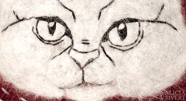 aliciasivert, alicia sivert, alicia sivertsson, katten tofslan, katt, katter, kattporträtt, porträtt, portrait, cat, cats, felt, felted, needle felted, needlefelted, needle felt, needlefelt, nåltova, nåltovat, nål tova, tovat, tovningsnål, katthår, kattpäls, päls, hår, textile art, fiber art, textilkonst, textil konst, skapa, skapande, kreativitet, ull, broderi, embroidery, needlework, återbruk, redesign, remake, halsduk, ylle, bild, monthly makers, flag, flagga, vimpel
