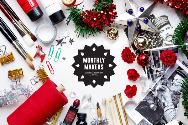 monthly makers, alicia sivert, alicia sivertsson, aliciasivert, skapa, skapande, kreativitet, adventskalender, 2015, jul, diy, do it yourself, julkalender