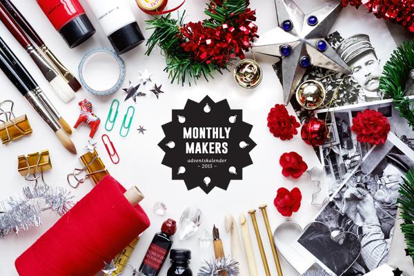 Monthly Makers adventskalender 2015, diy, do it yourself, skapa, skapande, kreativitet, creativity, create, jul, christmas, xmas, julkalender, lucka, lucköppning, aliciasivert, alicia sivert, alicia sivertsson