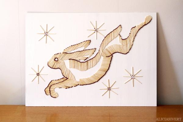 aliciasivert, alicia sivertsson, alicia sivert, monthly makers, tändstickor, safety matches, kanin, rabbit, bunny, hare, jumping, kreativitet, utmaning, skapa, skapanade, alster, makeri