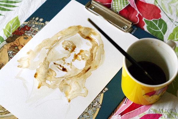 aliciasivert alicia sivertsson börja måla akvarell målarfärg skapa skapande kreativitet monthly makers färg akvarellfärg vattenfärg måla med kaffe