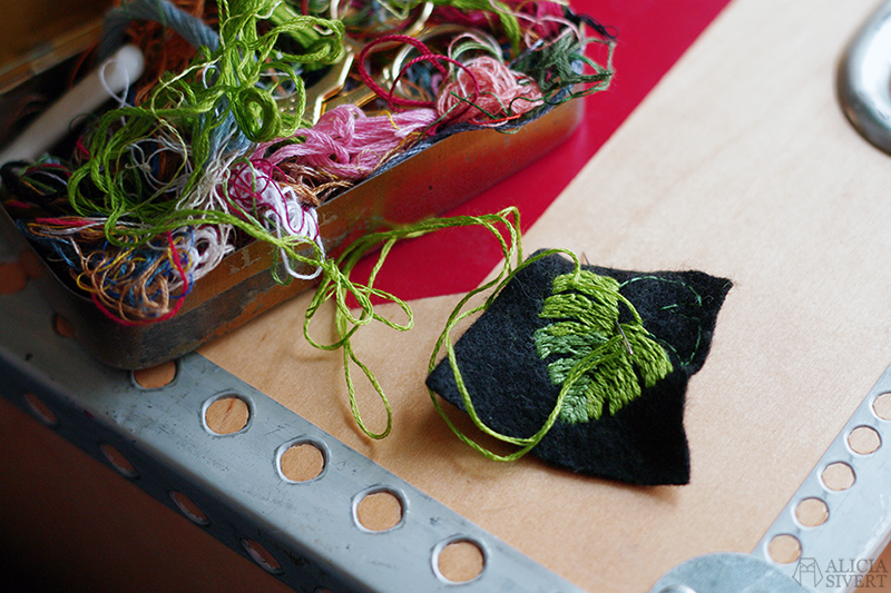 fritt broderi embroidery blad löv monstera aliciasivert