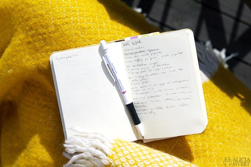 klippan vega saffran filt skrivbok anteckningsbok planering planera blogg monthly makers aliciasivert