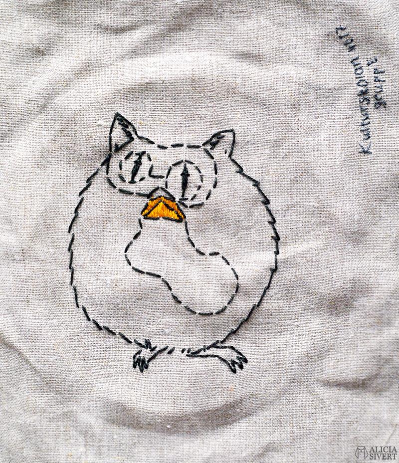 aliciasivert alicia sivertsson sivert skapa kreativitet diy do it yourself broderi embroidery needlework textile art textilkonst textil konst pygmépuff pygmy puff harry potter handarbete