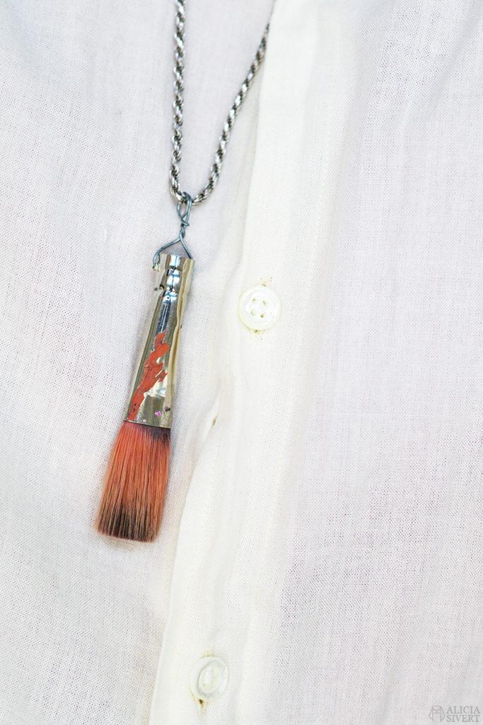 aliciasivert alicia sivert sivertsson skapa skapande kreativitet diy do it yourself gör det själv creativity art konst pensel halsband brush painting necklace