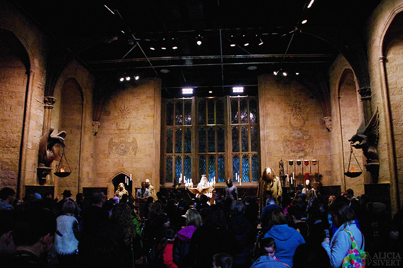 aliciasivert alicia sivert sivertsson harry potter hogwarts leavesden london england warner brothers studio tour the making of gryffindor slytherin hufflepuff ravenclaw film films movie movies the great hall den stora salen