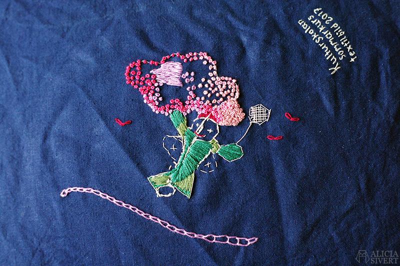 aliciasivert alicia sivertsson alicia sivert kurs textil bild och form textilt bildskapande textilkonst hantverk skapa skapande kreativitet tyg broderi broderikurs fritt franska knutar