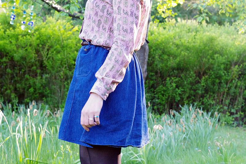 aliciasivert alicia sivert sivertsson monthly makers blogg bloggare bloggutmaning utmaning kreativ kreativitet skapande skapa sy om återbruk återbruka tema remake kjol jeans jeanskjol av klänning loppis second hand begagnat göra om omsydd