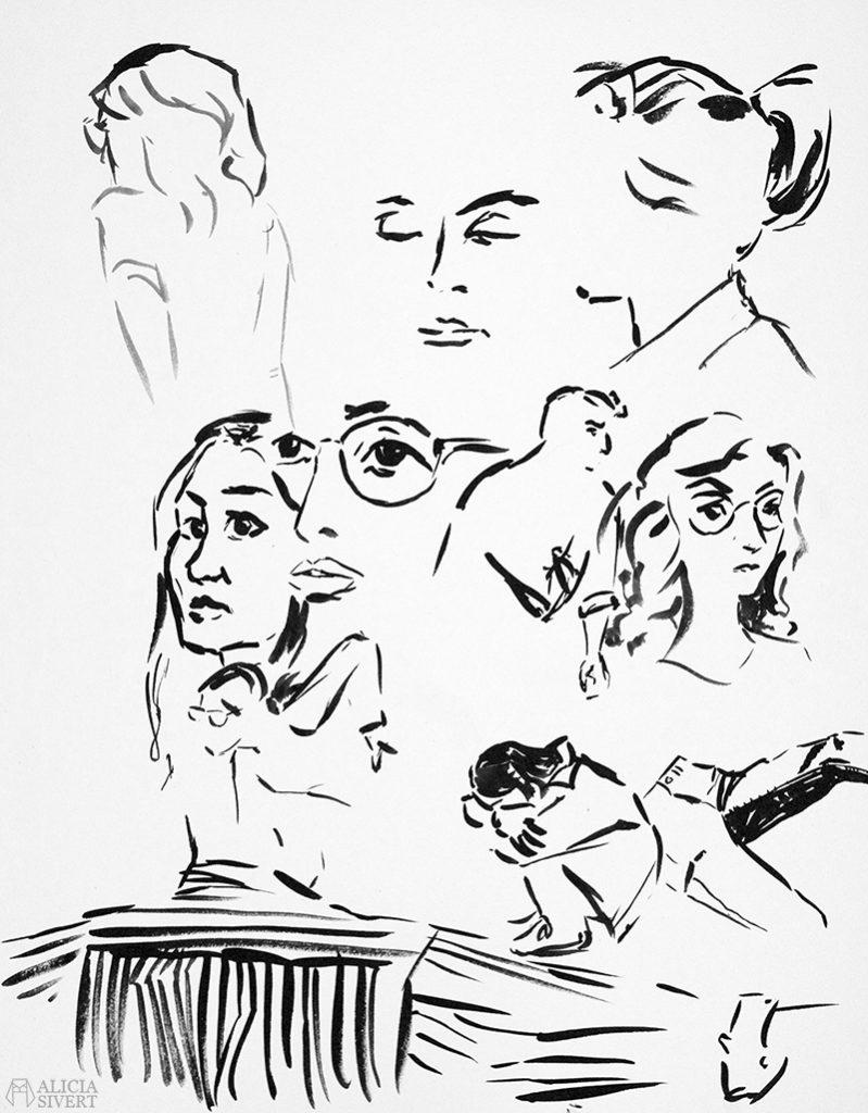 aliciasivert alicia sivert sivertsson teckning teckna skugga skuggning tusch porträtt