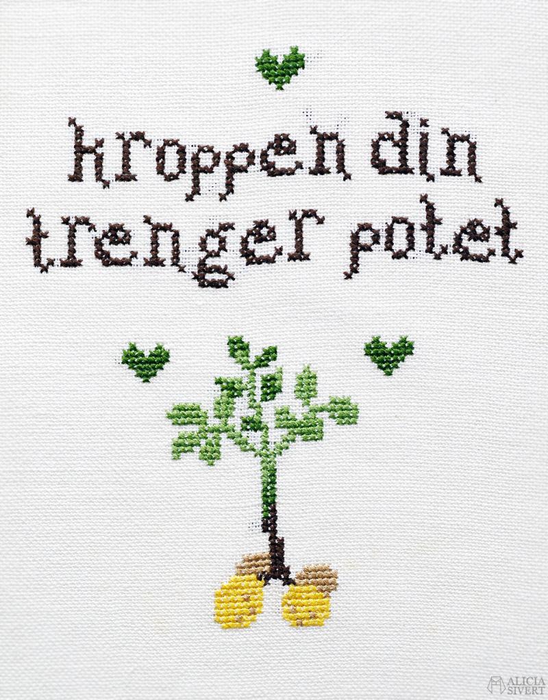 bloggens best nine 2018 www.aliciasivert.se http://aliciasivert.blogspot.com http://aliciasivert.se aliciasivert alicia sivert alicia sivertsson broderi brodera broderad bonad gratis mönster korsstygn korsstygnsmönster fritt free cross stich embroidery pattern skapa skapande kreativitet diy do it yourself gör det själv skam norska norge nork citat noora vilde potatis kroppen din trenger potet quote potato
