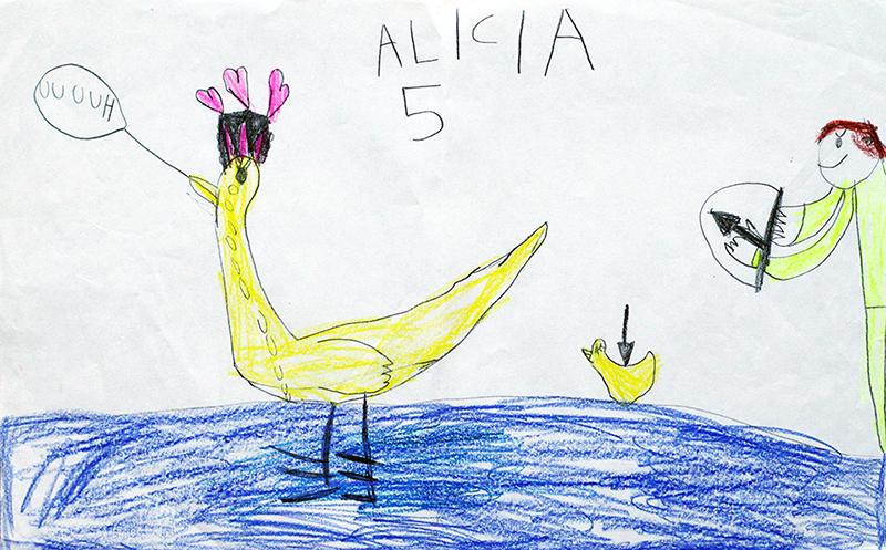 bloggens best nine 2018 teckna teckning rita lära sig mig dig lär barn skapande utveckling kreativitet i barndomen vuxen vuxna anka and änder jägare jakt död 5-åring 5 år fem femåring