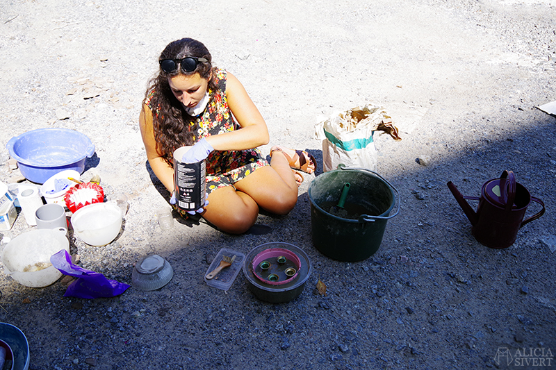 aliciasivert.se den kreativa veckan gjuta betong med Mikaela Puranen betonggjutning skapa skapande kreativitet diy