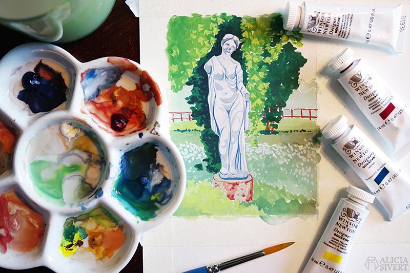 staty gouache måla målning gouachemålning alicia sivertsson alicia sivert aliciasivert aliciasivert.se