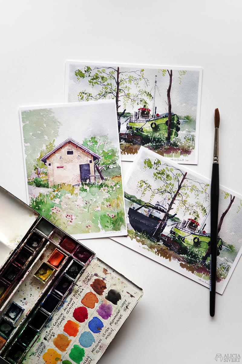Värmdövykort - vykort med motiv från Värmdö i akvarell, av Alicia Sivertsson - aliciasivert.se