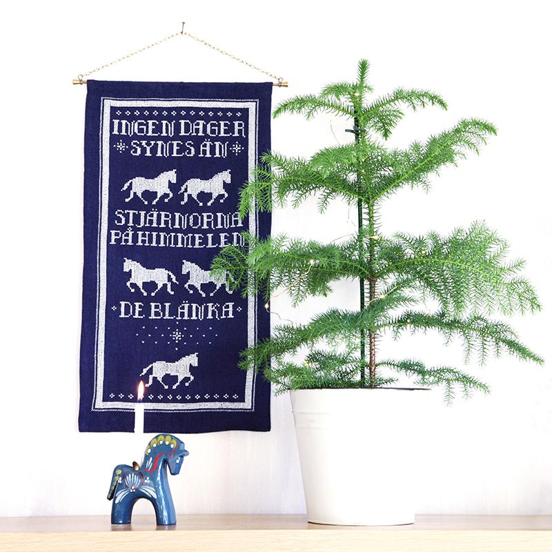 Fålar Fem, gratis korsstygnsmönster av Alicia Sivertsson - aliciasivert.se / broderi brodera korsstygn mönster jul staffan stalledräng häst hästar hantverk diy mönster