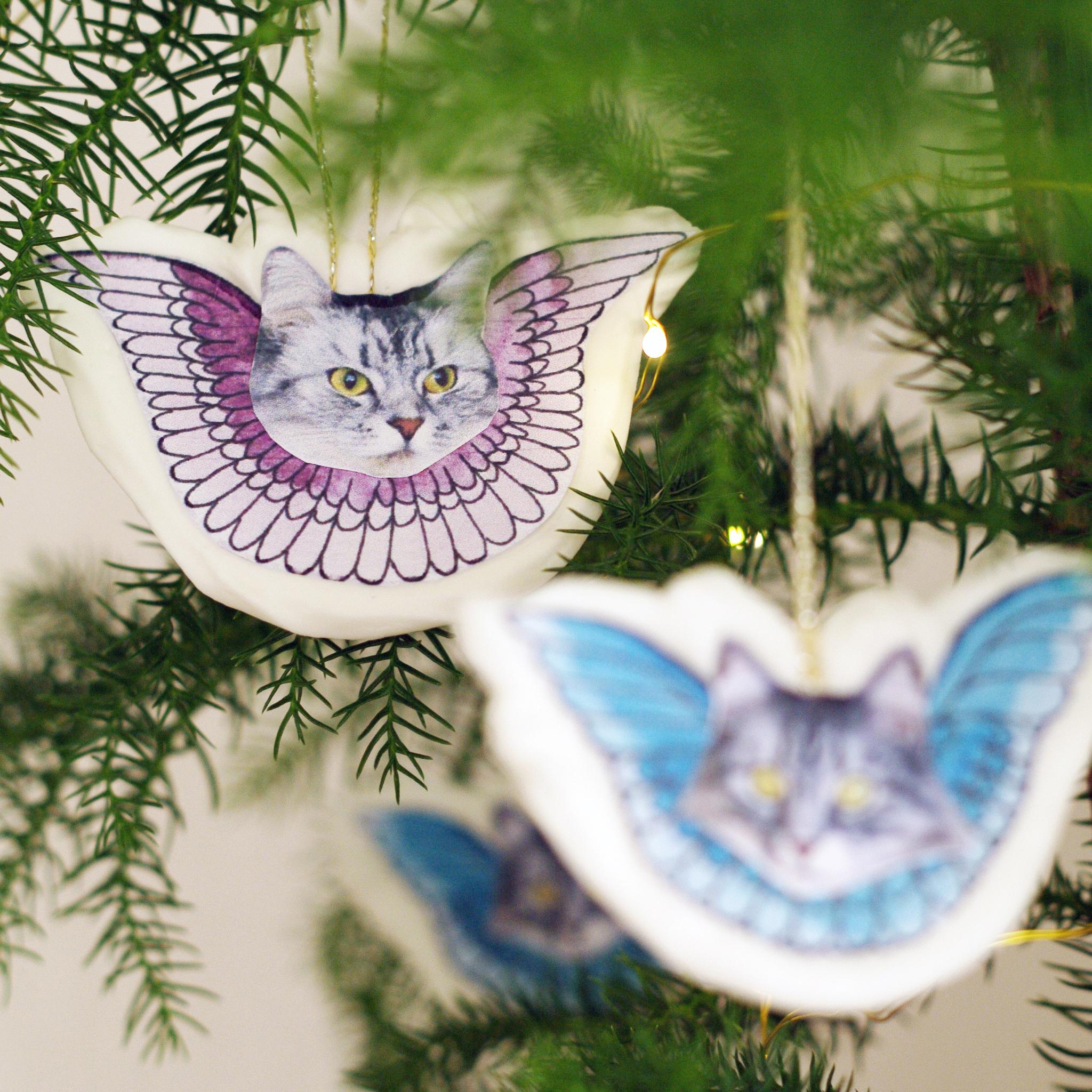 Kristyrkatter, DIY-instruktioner och gratis printables av Alicia Sivertsson - aliciasivert.se / jul hantverk diy kristyr kristyränglar änglar gran katt katter julkatt julkatter