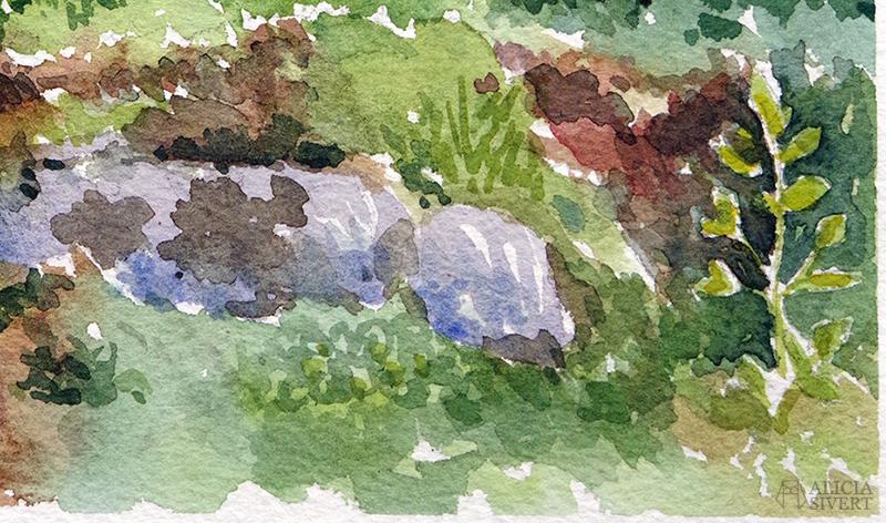Ankhuset i Gustavsberg, akvarellmålning av Alicia Sivertsson - aliciasivert.se. // aliciasivert.se alicia sivert sivertsson aliciasivert värmdö värmdömotiv akvarell akvarellmålning målning målningar konst vattenfärg watercolor watercolour water color colour aquarelle painting paintings art sweden swedish gustavsberg gustavsbergs hamn ankhus hus ankor stuga gul gult gröna knutar skärgård skärgårdsmotiv