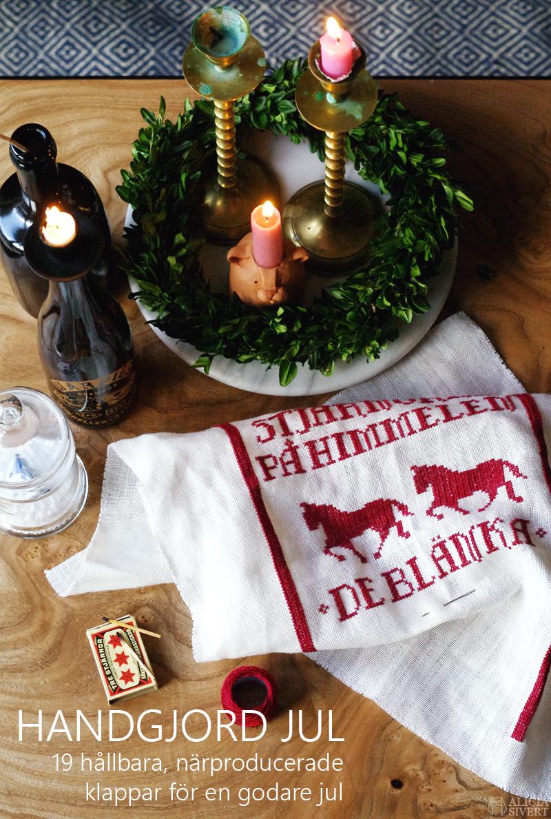 bloggens best nine 2018 Handgjord jul 2018, 19 hållbara, närproducerade klappar och presenter tillverkade av kvinnor och icke-binära i Norden. För en godare jul!