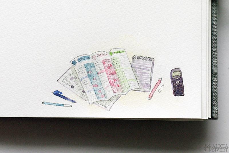 Mormors bok - handbunden bok med illustrationer i akvarell, av Alicia Sivertsson - www.aliciasivert.se / Bingo