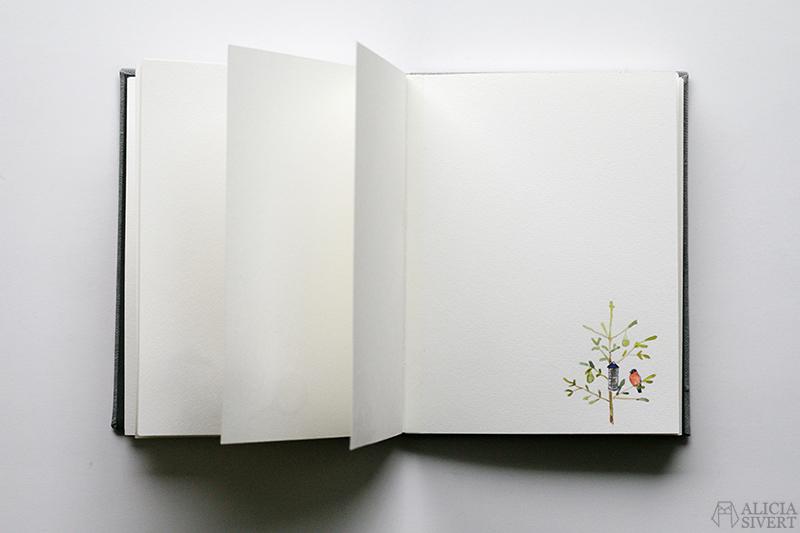 Mormors bok - handbunden bok med illustrationer i akvarell, av Alicia Sivertsson - www.aliciasivert.se / Domherre