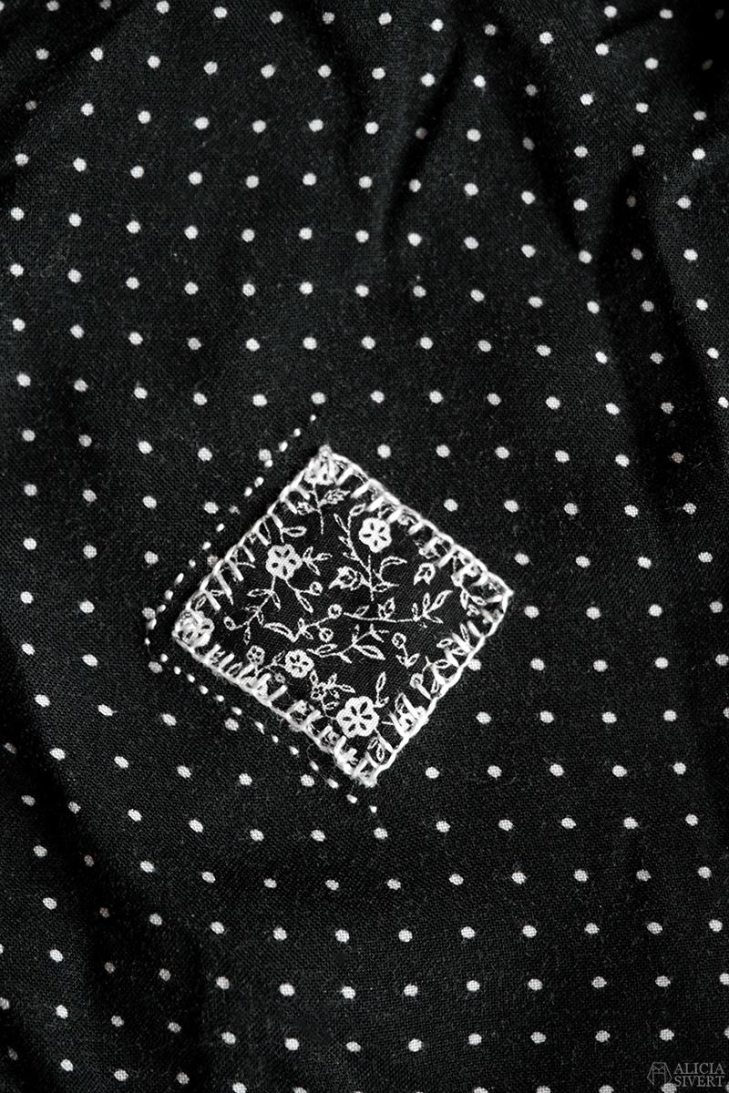 Inspiration till synlig lagning av kläder, av Alicia Sivertsson - www.aliciasivert.se // laga synligt klädesplagg plagg återbruk återbruka sy hål visible mending mend clothes