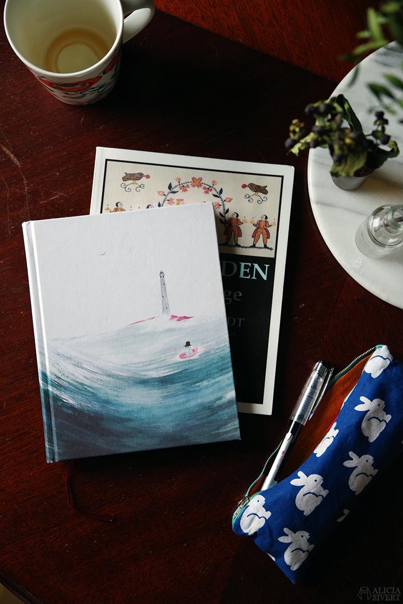 Bullet Journal med motiv ur Pappan och Havet av Tove Jansson, foto av Alicia Sivertsson - www.aliciasivert.se // Januari är min sämsta månad