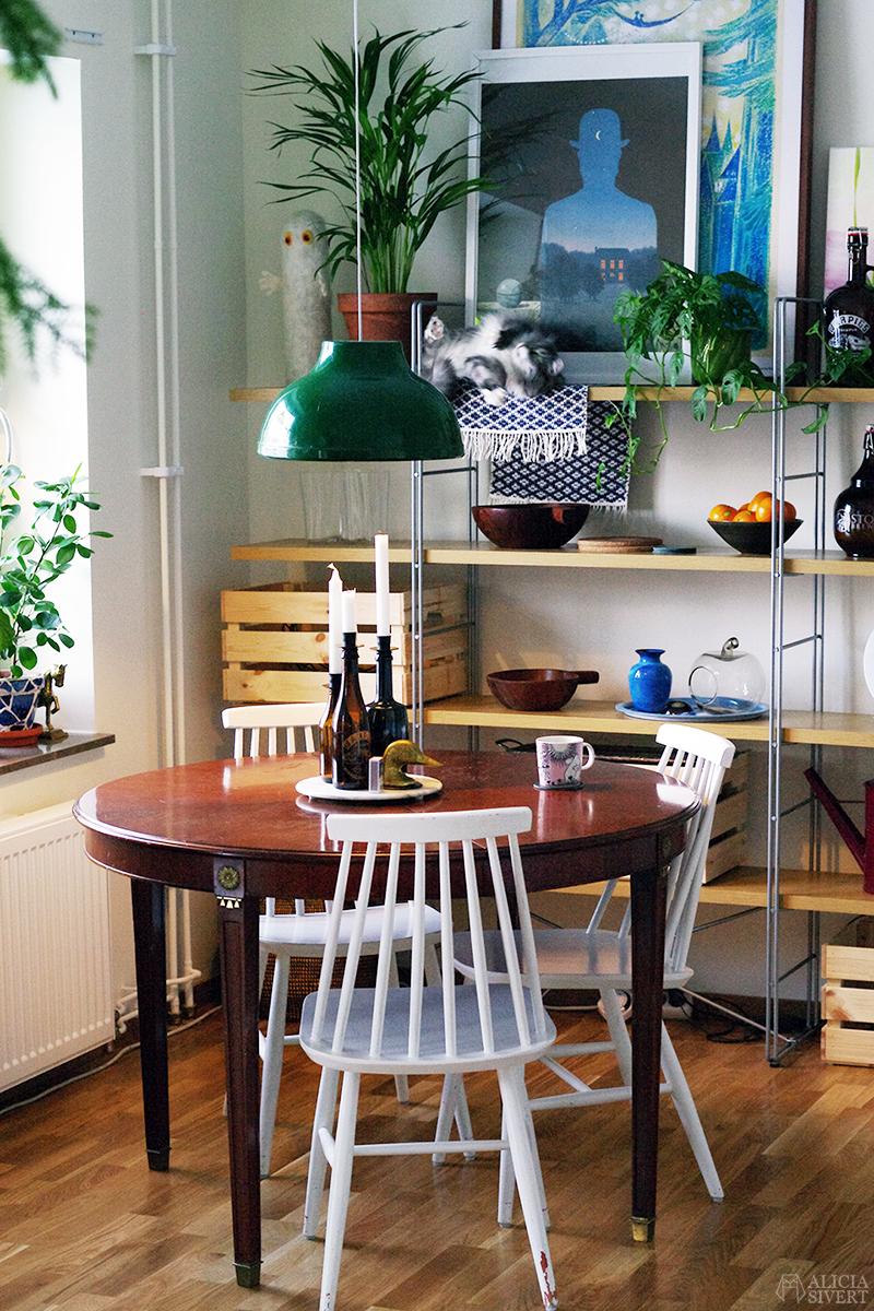 februari förra året - www.aliciasivert.se // vardagsrum nya lyan köksbord