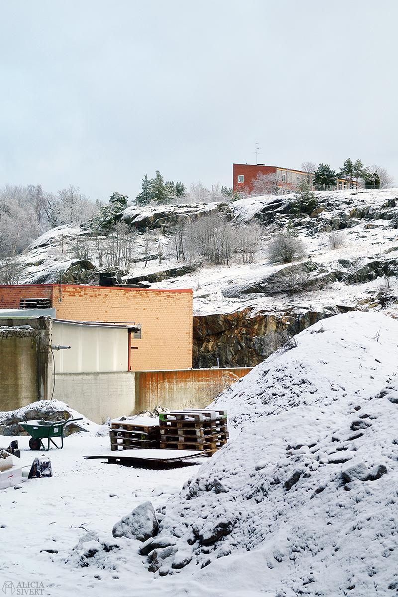 januari förra året Gustavsberg snö utsikt kvarnbergsskolan