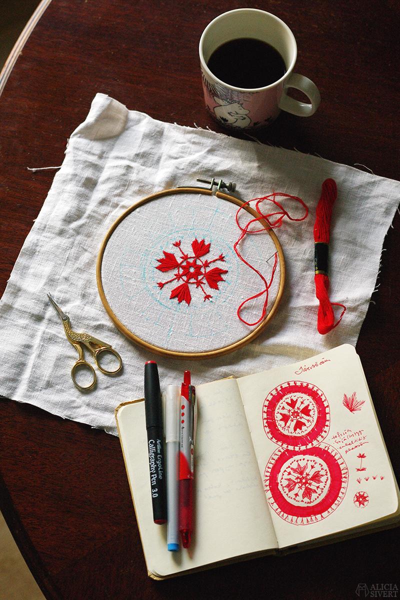januari förra året Järvsösöm landskapssöm broderi traditionellt svenskt järvsö historia kvinnohistoria textil textilkonst textilt arv