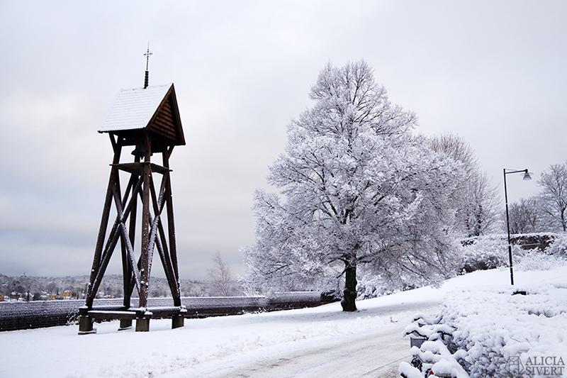 Försenade julkort Ett försenat julkort snö i december stockholm