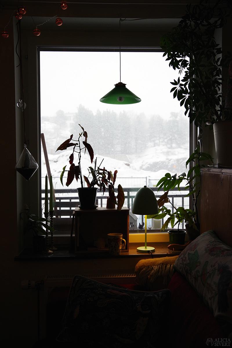 Vardagsrumsfönstret en vinterdag, foto av Alicia Sivertsson - www.aliciasivert.se