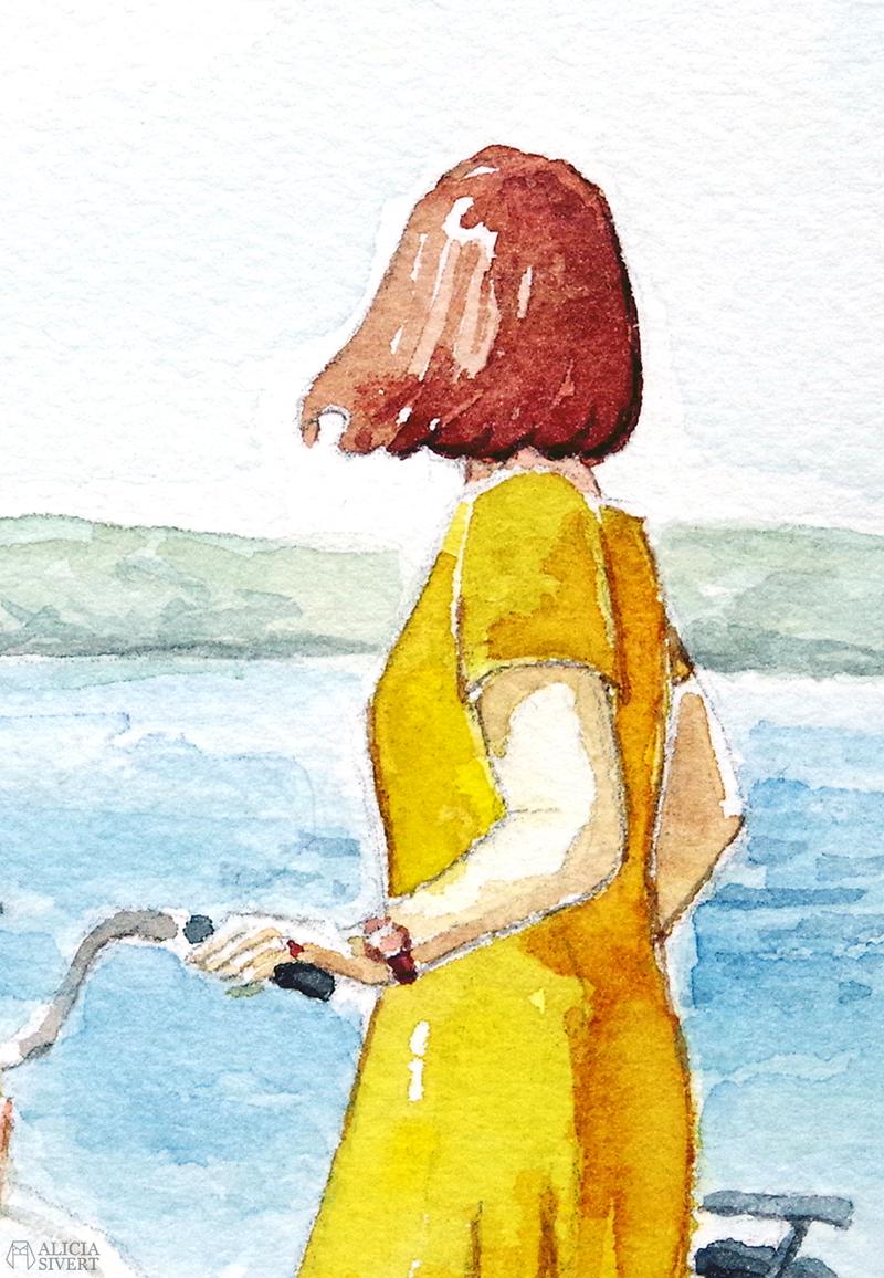 Baggensfjärden, bloggheader i akvarell målad av Alicia Sivertsson - www.aliciasivert.se