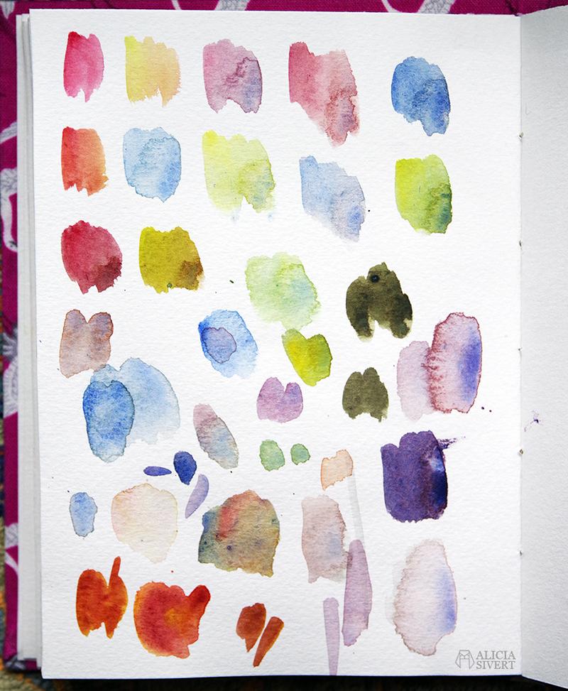 Färgblandning kladdpapper akvarell - www.aliciasivert.se // skaparlistan