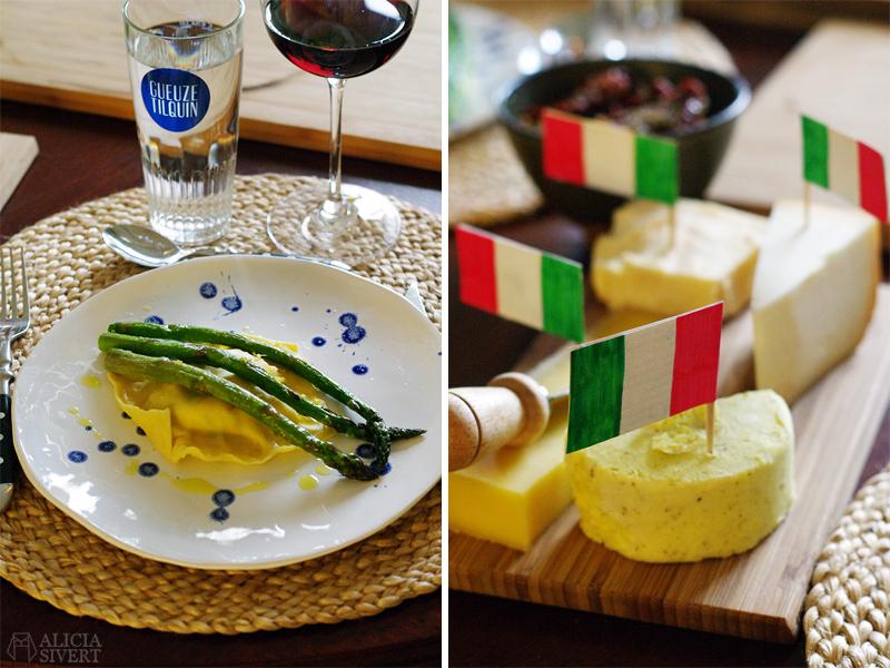 Italiensk afton med pasta och ost - www.aliciasivert.se
