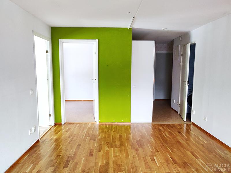 Nya lägenheten - www.aliciasivert.se // grön väggfärg
