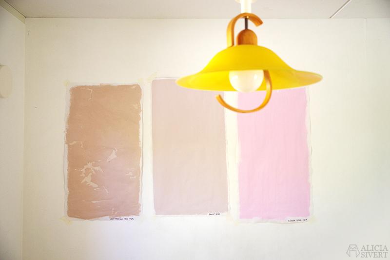 Nya lägenheten - www.aliciasivert.se // rosa väggfärg