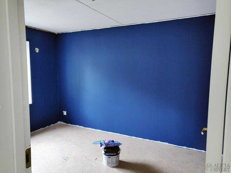 Renovering: Måla sovrum blått - www.aliciasivert.se