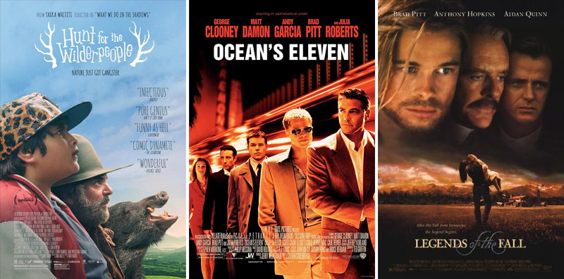 En film i veckan #1-26 - www.aliciasivert.se // Hunt for the Wilderpeople Ocean's Eleven Legends of the Fall