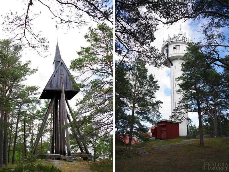 Klockstapel och lotsutsikt, en sommardag på Sandön - www.aliciasivert.se